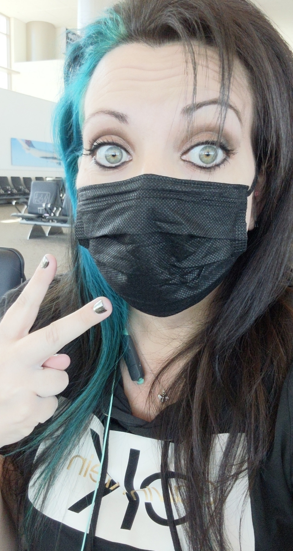 Obligatory airport selfie in SLC airport while waiting at the gate. :P