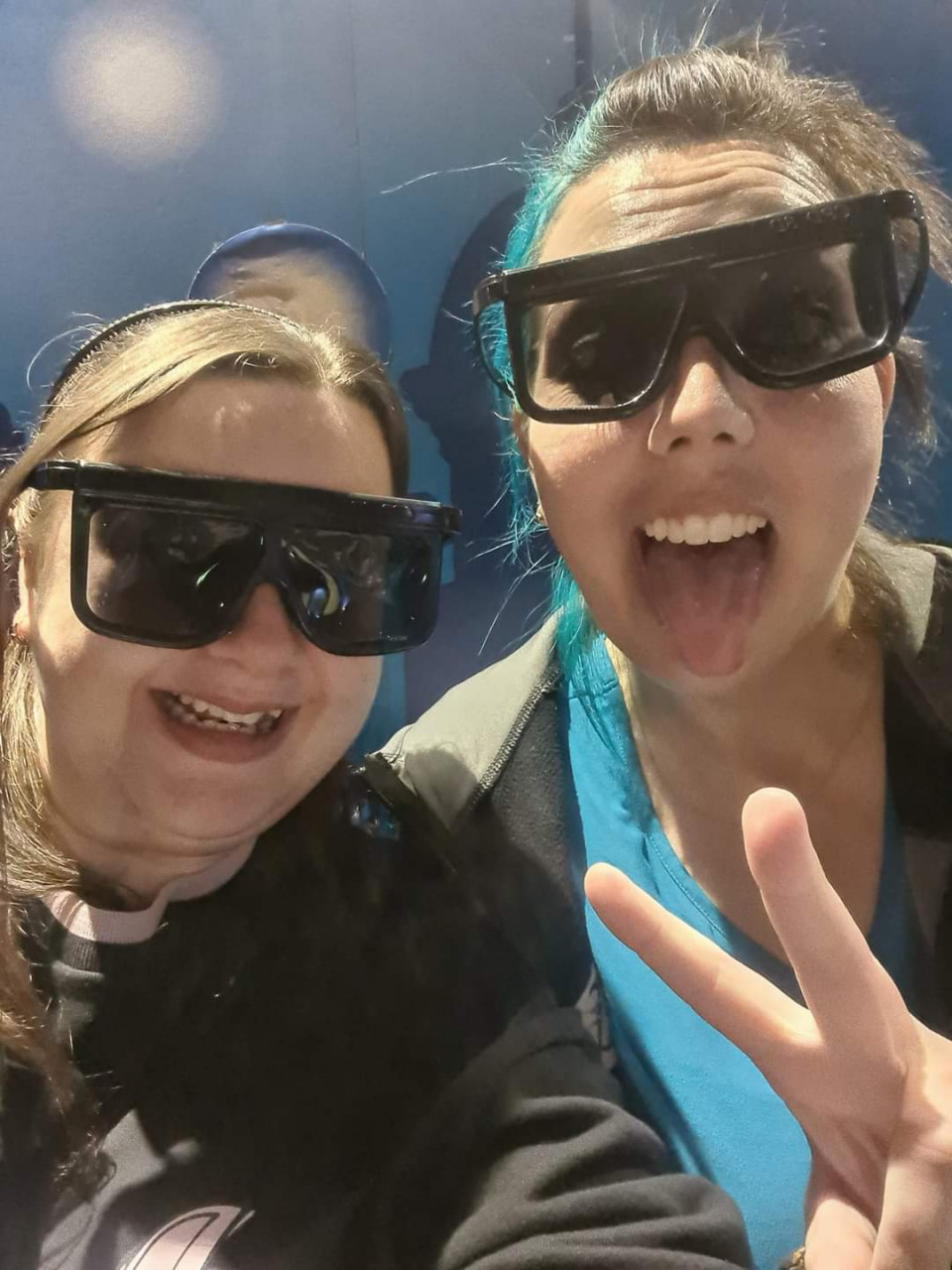 Our super hot 3D glasses for the Blackpool Tower tour. The puffs of air definitely didn't scare me, twice.