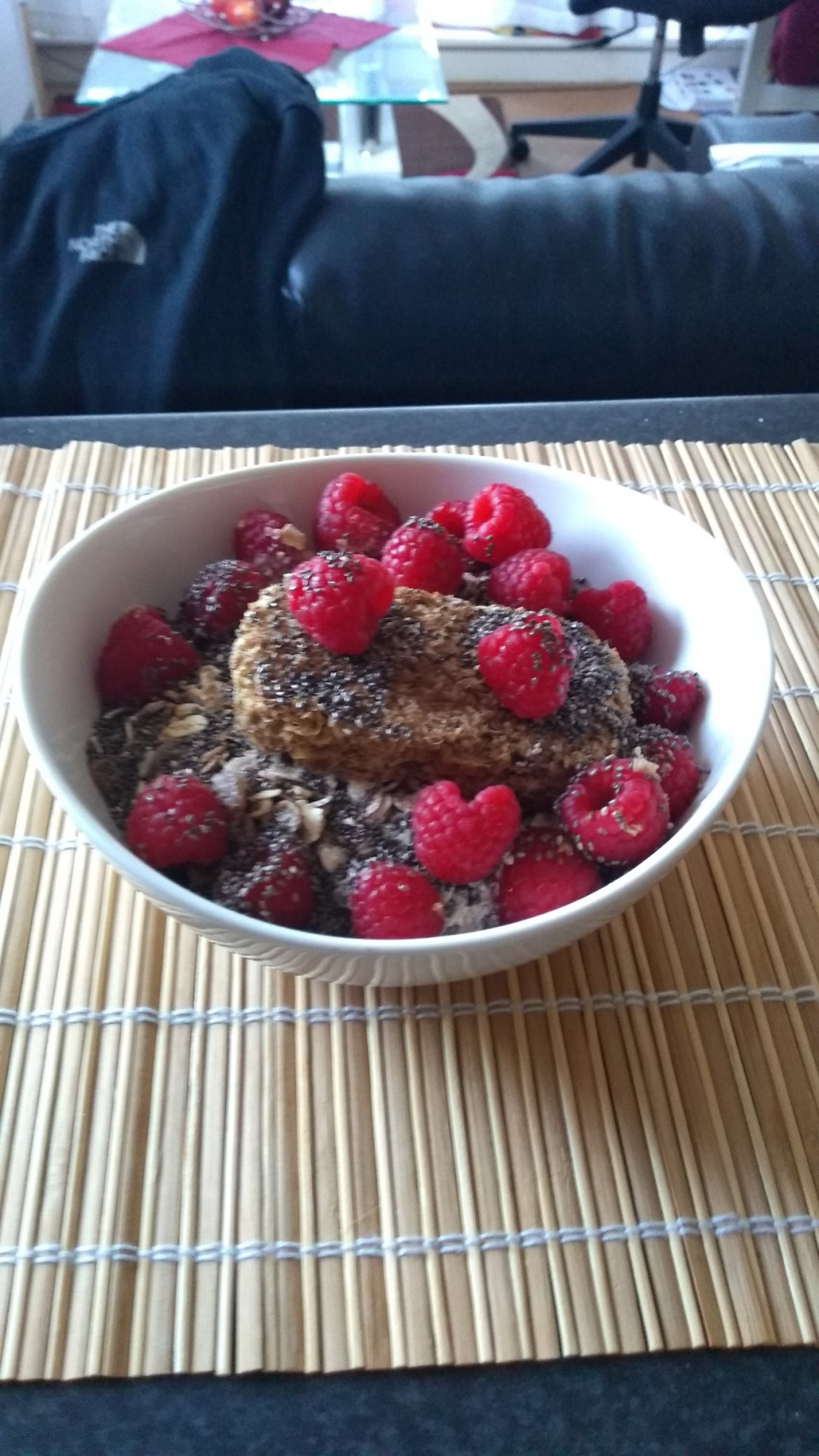 Cereals with Raspberries and Chia Seeds :P