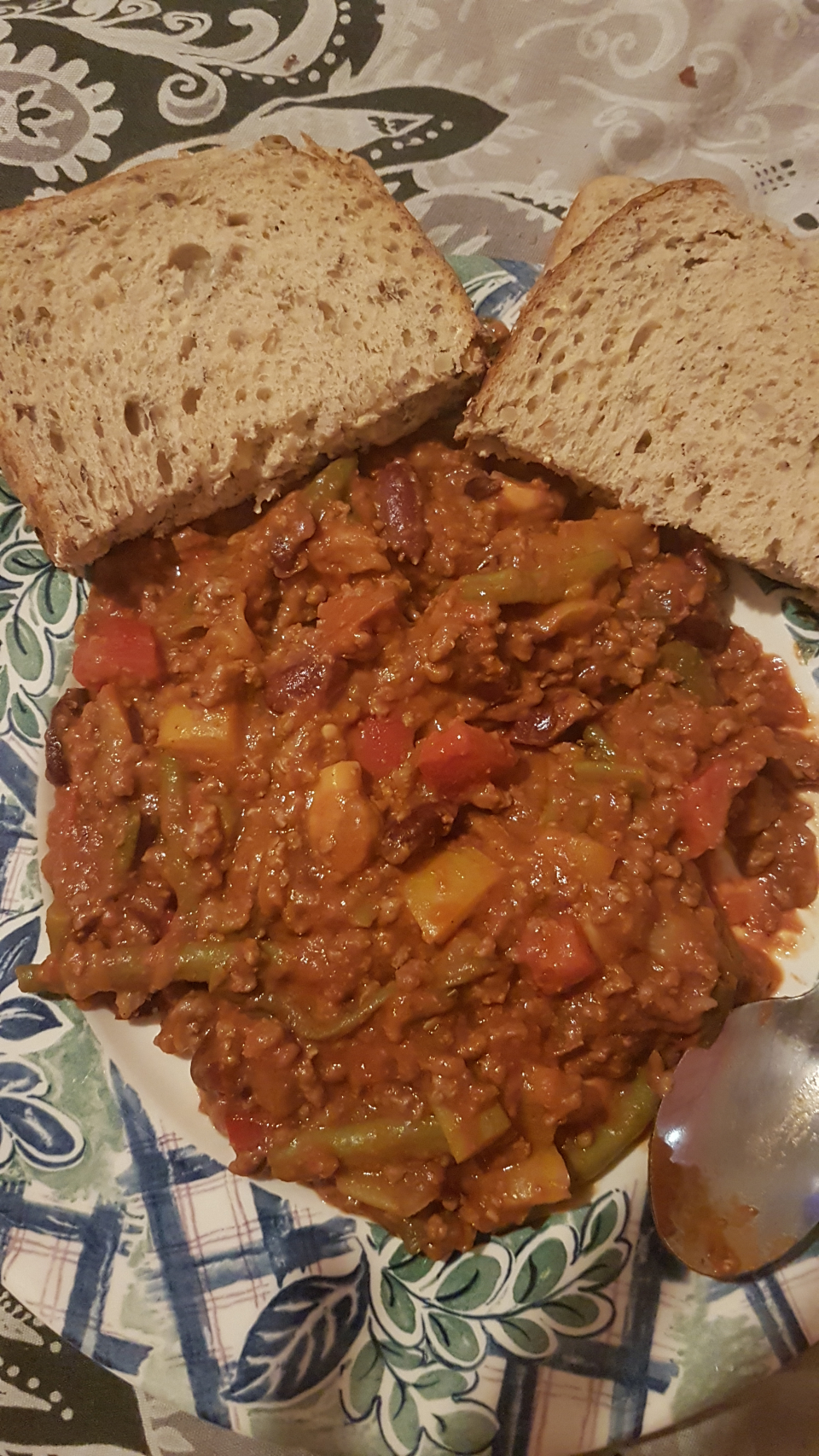 Last night's dinner mince and veg chilly