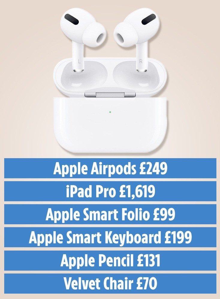 LABOUR'S deputy leader Angela Rayner claimed a pair of personalised Apple AirPods on expenses,The claims included a £1,619 iPad Pro, with £99 case, £199 keyboard and £131 digital pencil as well as a £70 office chair.By April last year, she claimed over £2,100 for equipment.